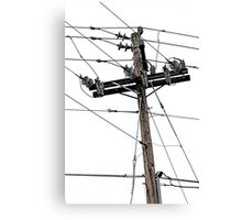 old electric pole Canvas Print
