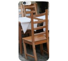 Chairs Cafe iPhone Case/Skin