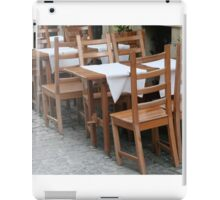 Chairs Cafe iPad Case/Skin