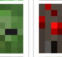 Minecraft Mobs Faces Pixel Art Sticker