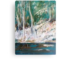 Sunlight in the  Emerald Forest Canvas Print