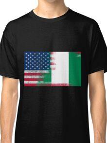 Nigerian American Half Nigeria Half America Flag Classic T-Shirt