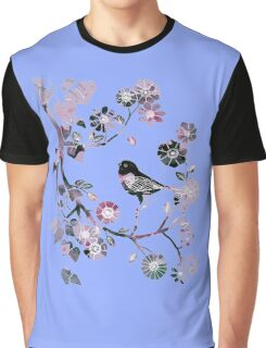 bird decorated with flowers 1 Graphic T-Shirt