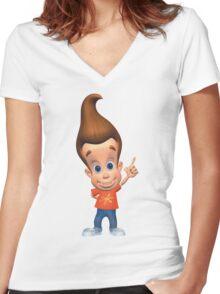 Jimmy Neutron Women's Fitted V-Neck T-Shirt