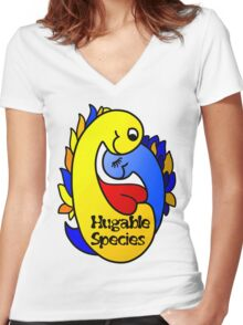 Hugable Species Women's Fitted V-Neck T-Shirt