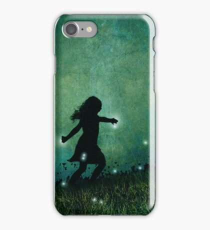 Dancing with the fireflies iPhone Case/Skin