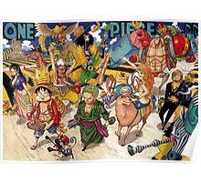 One piece - Mugiwara / Straw hat pirates Poster