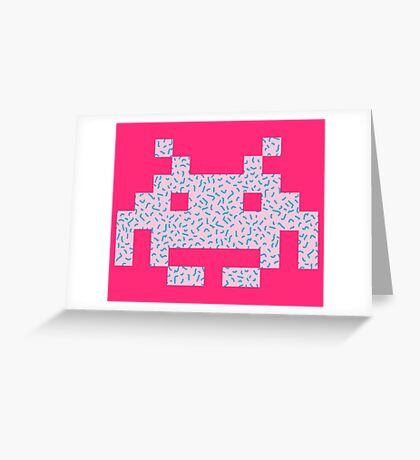 80's Invaders from Space Greeting Card