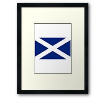 Scottish Independence Flag Scotland T-Shirt Framed Print