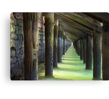 Under The Wharf Canvas Print