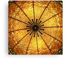 Golden Stained Glass Scales Canvas Print
