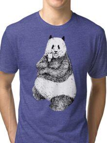 Bear with Ice Cream Tri-blend T-Shirt