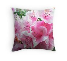 Pink Floral Blossoms Throw Pillow