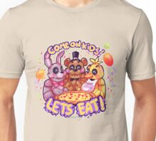 Lets eat at Freddy's! Unisex T-Shirt