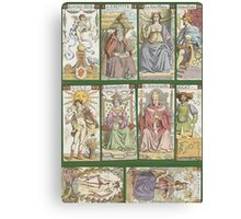 """cover of book with tarot cards (""""Tarot of the Master"""") Canvas Print"""