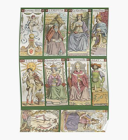 """cover of book with tarot cards (""""Tarot of the Master"""") Poster"""