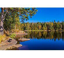 Autumn reflections Photographic Print