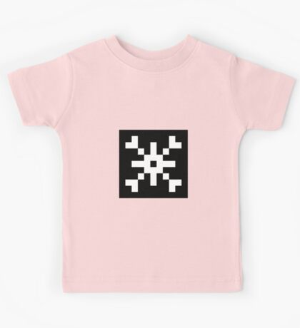 8-bit Snowflake Graphic Kids Tee
