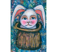 rabbit in the hat Photographic Print