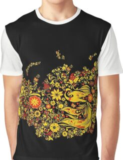 Abstract Floral Flow Graphic T-Shirt