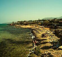 Malia beach by Rob Hawkins
