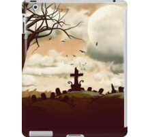 Full Moon Graveyard Sepia iPad Case/Skin