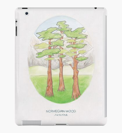 Haruki Murakami's Norwegian Wood // Illustration of a Forest and Mountains in Pencil iPad Case/Skin