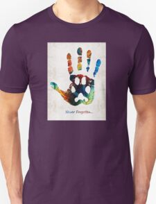 Rainbow Bridge Art - Never Forgotten - By Sharon Cummings Unisex T-Shirt