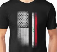 Iraqi American Flag Unisex T-Shirt