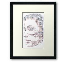 Woman, can be made of many things. Damaged, Beaten, Abused, Broken but STRONG Framed Print
