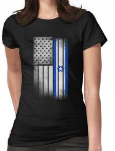 Israeli American Flag Womens Fitted T-Shirt