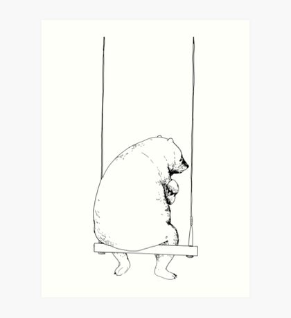 Sadly Big Baby (white) Art Print