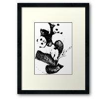 1 panda, 2 pandas, 3 pandas! Framed Print