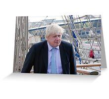 Mayor Boris Johnson marks Totally Thames with visit to TS Tenacious Greeting Card