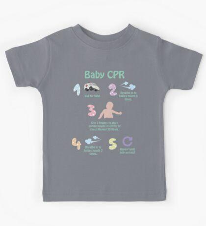 5 Steps of Baby CPR Kids Tee