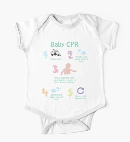 5 Steps of Baby CPR One Piece - Short Sleeve