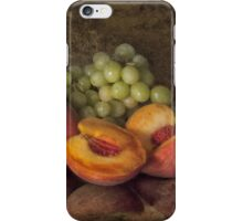 Classical Still Life - Peaches and Grapes iPhone Case/Skin