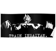 TRAIN INSAIYAN. - Saiyan Squat (White) Poster