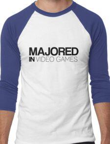 Majored in Video Games Men's Baseball ¾ T-Shirt