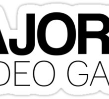Majored in Video Games Sticker