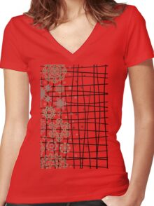 Structure snow Women's Fitted V-Neck T-Shirt