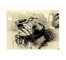 Born To Live, Live To Ride Art Print