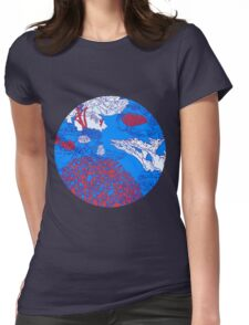 Coral reef Womens Fitted T-Shirt