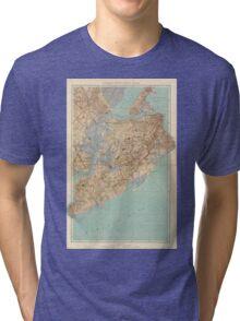 Vintage Map of Staten Island (1891) Tri-blend T-Shirt
