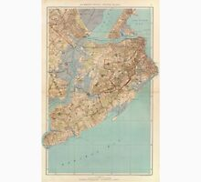 Vintage Map of Staten Island (1891) Unisex T-Shirt