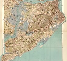 Vintage Map of Staten Island (1891) by BravuraMedia