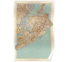 Vintage Map of Staten Island (1891) Poster
