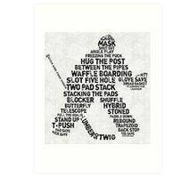 Hockey Goalie Calligram  Art Print