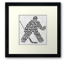 Hockey Goalie Calligram  Framed Print