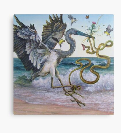 """""""Serpent and the Thistle""""  Canvas Print"""